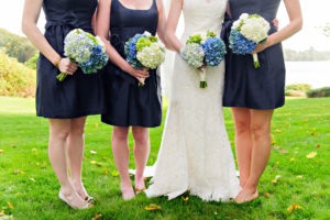 bride and bridesmaids flowers