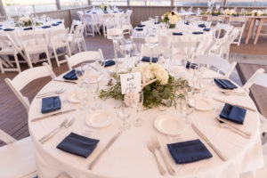 Cape Cod wedding table flowers