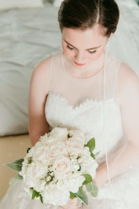 Cape Cod rose bride flower bouquet