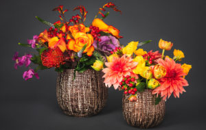 2 Fall flowers arrangements