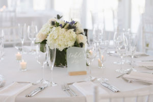 Cape Cod Wedding Reception Flowers